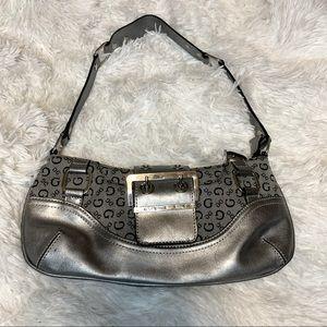 Guess Y2K small silver shoulder bag